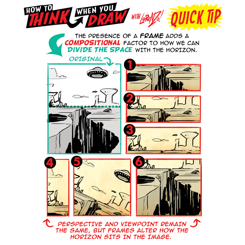 How to THINK when you draw THE HORIZON tutorial! by EtheringtonBrothers