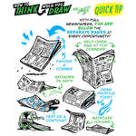 How to THINK when you draw NEWSPAPERS tutorial!