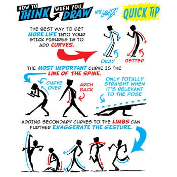 How to THINK when you draw THE SPINE QUICK TIP! by EtheringtonBrothers