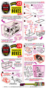 How to THINK when you draw PERSPECTIVE BOXES!