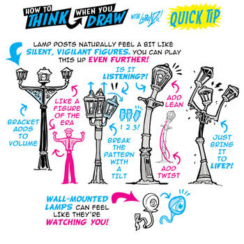 How to THINK when you draw LAMP POSTS with LIFE! by EtheringtonBrothers