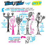 How to THINK when you draw LAMP POSTS with LIFE!