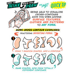 How to THINK when you draw CROSS-CONTOURS tutorial by EtheringtonBrothers
