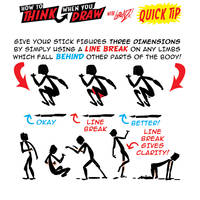 How to THINK when you draw LINE BREAKS tutorial!
