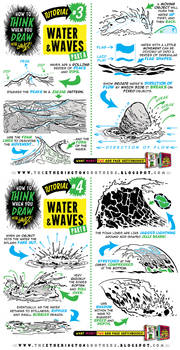 How to THINK when you draw WATER + WAVES tutorial!