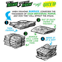 How to THINK when you draw NEWSPAPERS QUICK TIP! by EtheringtonBrothers