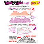 How to THINK when you draw MOUNTAINS QUICK TIP!