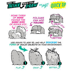 How to THINK when you draw MOSS tutorial!