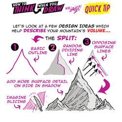 How to THINK when you draw MOUNTAINS tutorial!
