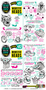 How to THINK when you draw MONSTER HEADS tutorial!