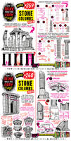 How to THINK when you draw STONE COLUMNS tutorial!