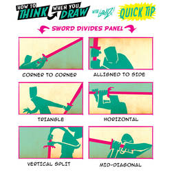 How to THINK when you draw SWORD FIGHT CLOSE-UPS!