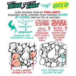 How to THINK when you draw PEBBLES QUICK TIP! by EtheringtonBrothers