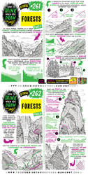 How to THINK when you draw FORESTS and WOODLANDS!