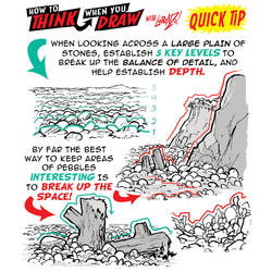 How to THINK when you draw BEACHES QUICK TIP! by EtheringtonBrothers