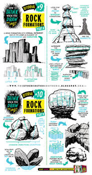 How to THINK when you draw ROCK FORMATIONS! by EtheringtonBrothers