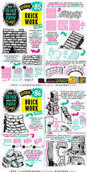 How to THINK when you draw BRICKWORK tutorial! by EtheringtonBrothers