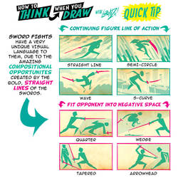 How to THINK when you draw SWORD FIGHT COMPOSITION