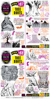 How to THINK when you draw TREE ROOTS tutorial!