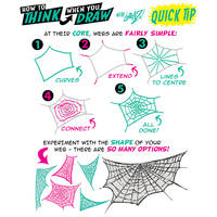How to THINK when you draw WEBS QUICK TIP!