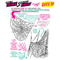 How to THINK when you draw WEBS QUICK TIP 2!