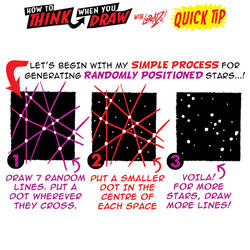 How to THINK when you draw STARS QUICK TIP!
