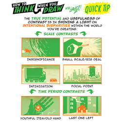 How to THINK when you draw CONTRASTS QUICK TIP! by EtheringtonBrothers