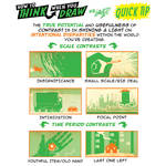 How to THINK when you draw CONTRASTS QUICK TIP!