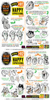 How to THINK when you draw HAPPY EXPRESSIONS!
