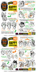 How to THINK when you draw HAPPY EXPRESSIONS! by EtheringtonBrothers