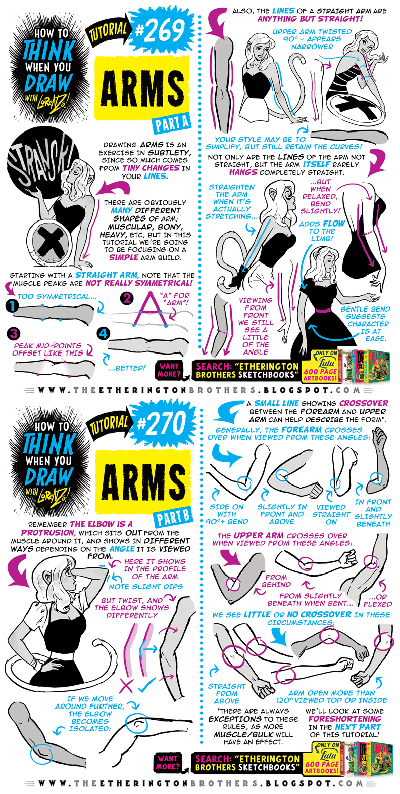 How to THINK when you draw ARMS (1 of 2) tutorial!