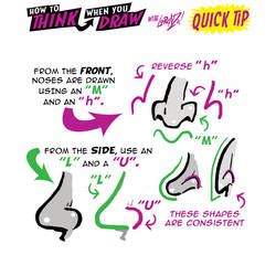 How to THINK when you draw NOSES QUICK TIP! by EtheringtonBrothers