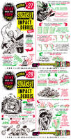 How to THINK when you draw IMPACT DEBRIS TUTORIAL!
