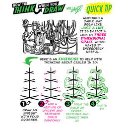 How to THINK when you draw CABLES and WIRES TIP! by EtheringtonBrothers