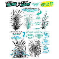 How to THINK when you draw LONG GRASS TIP!