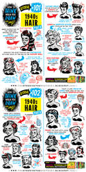 How to THINK when you draw 1940s HAIR tutorial! by EtheringtonBrothers