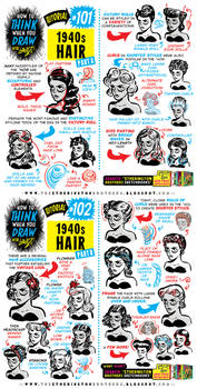 How to THINK when you draw 1940s HAIR tutorial!