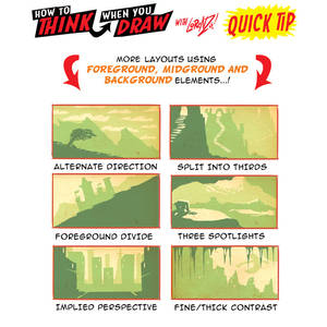 How to draw ENVIRONMENT COMPOSITION QUICK TIPS!