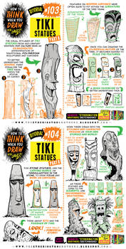 How to THINK when you draw TIKI STATUES tutorial!