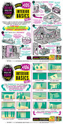 How to THINK when you draw INTERIORS tutorial!