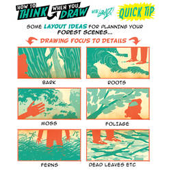 How to THINK when you draw FOREST DETAILS TIP!
