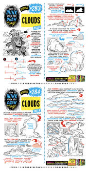 How to THINK when you draw CLOUDS tutorial!