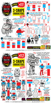 How to THINK when you draw 3-SHAPE CHARACTERS!