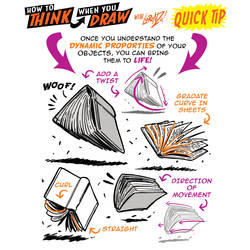 How to THINK when you draw BOOKS coming to LIFE!
