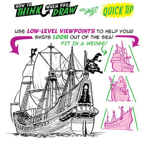 How to THINK when you draw PIRATE SHIPS QUICK TIP!