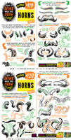 How to THINK when you draw HORNS tutorial!