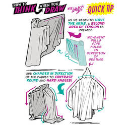 How to THINK when you draw CLOAKS AND CAPES TIP!