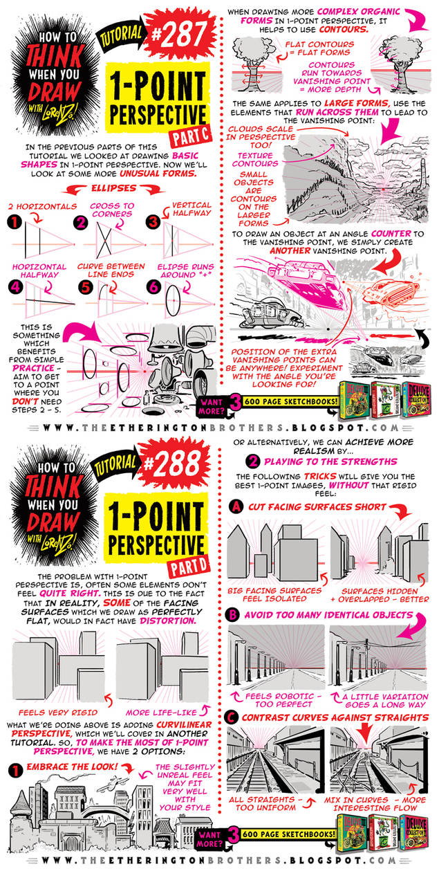 How to THINK when you draw 1-POINT PERSPECTIVE pt2