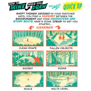 How to THINK when you draw FOREST LAYOUTS TIP!