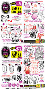 How to THINK when you draw GEMS and CRYSTALS!